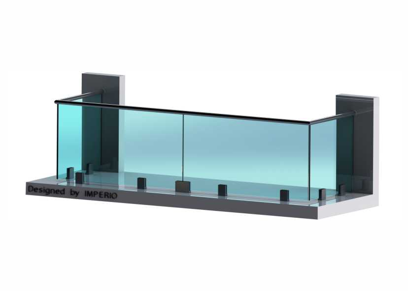 Imperio C Series Frameless Glass Railings