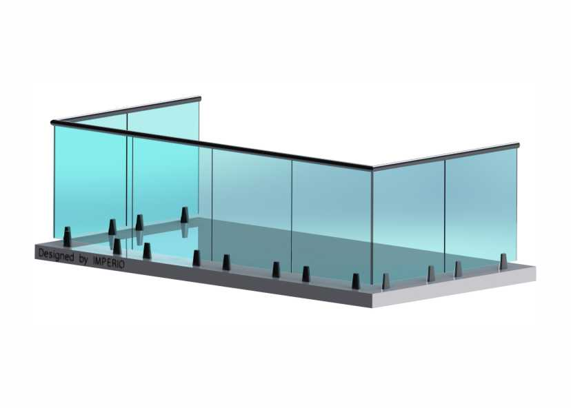 Imperio E Series Frameless Glass Railings