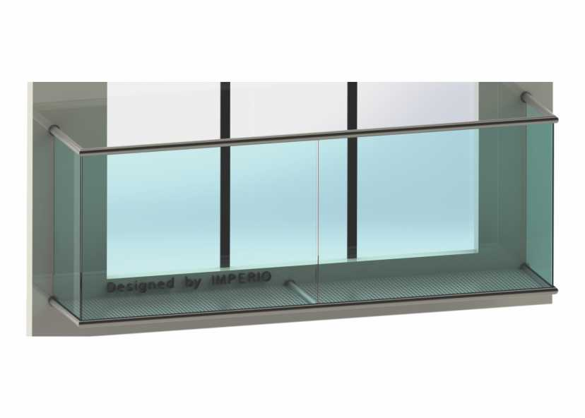 Imperio J Series Frameless Balcony Glass Railings