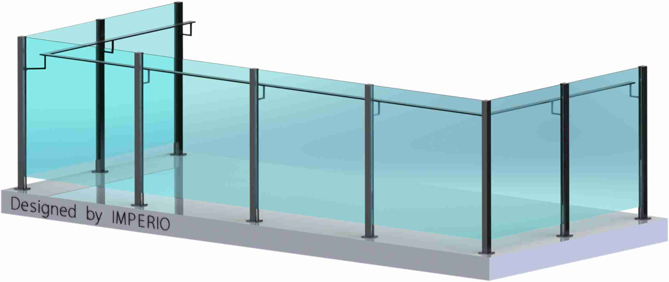 Imperio S Series Frameless Glass Railings