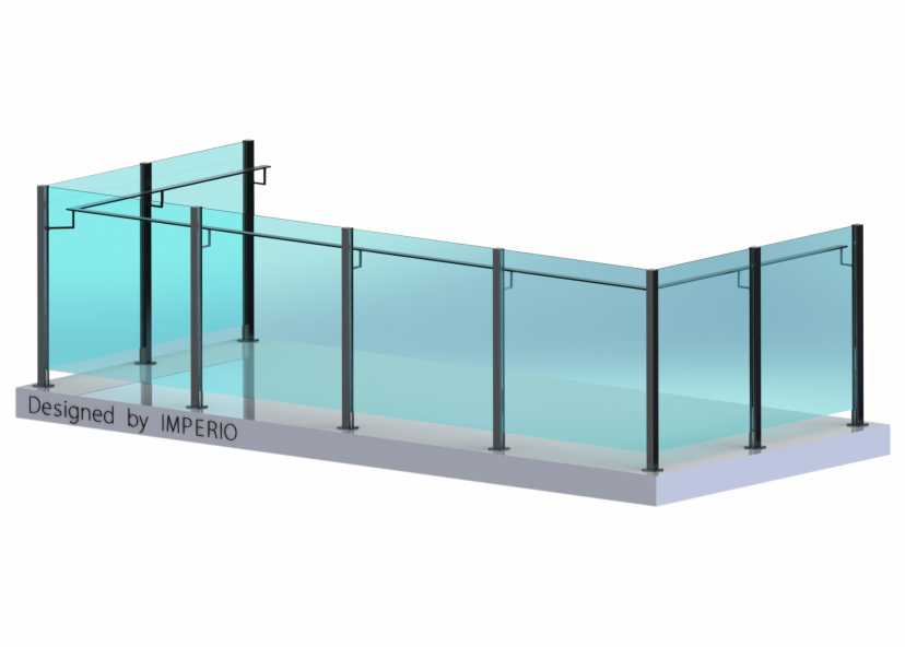 Imperio S Series Framesless Bar Glass Railings